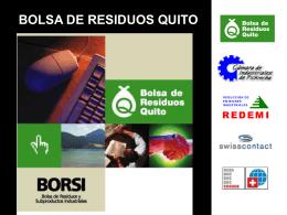 Presentación de PowerPoint - Bolsa de Residuos y Subproductos