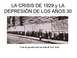 LA CRISIS DE 1929 y LA DEPRESIÓN DE LOS AÑOS 30 - 1C