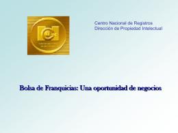 Bolsa de Franquicias - Centro Nacional de Registros