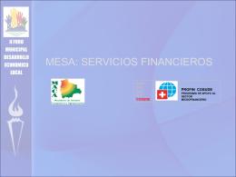 Institucionalidad Financiera para el Desarrollo