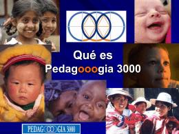 Que es Pedagooogia 3000
