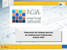 Elaboración del Catálogo Nacional de Cualificaciones Profesionales
