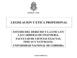 LEGISLACION Y ETICA PROFESIONAL