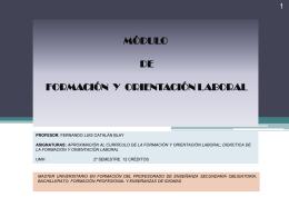 módulo de formación y orientación laboral - Bienvenido al OCW-UMH