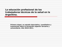 La educación profesional de los trabajadores técnicos de la