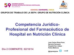 Competencia Jurídico-Profesional del Farmacéutico de Hospital en