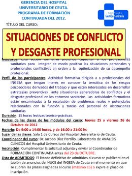 2012 situaciones de conflicto y desgaste profesional