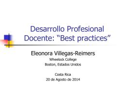 Costa Rica Desarrollo Profesional Docente 08 20 14