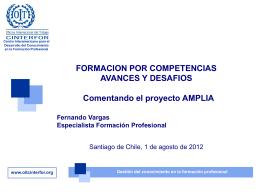 o OIT-CINTERFOR, presentación de Fernando Vargas, Experto en