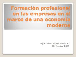 Formación profesional en las empresas en el marco de una
