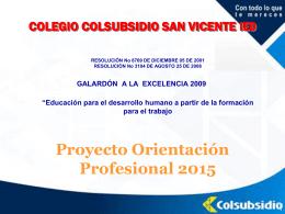 Presentación Programa Orientación Profesional