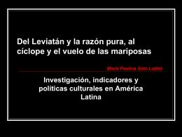 La investigación cultural desde el Estado