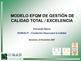 MODELO EFQM DE GESTIÓN DE CALIDAD TOTAL