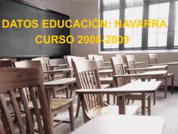 datos educación - Gobierno de Navarra