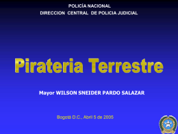 Estadisticas Pirateria Terrestre