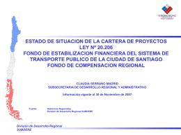 region metropolitana proyectos con aprobacion del