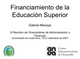 10. Gabriel Macaya - Financiamiento Educación Superior