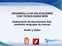 U3 – Lenguajes de Marcado Web – Audio y Video