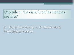 La ciencia en las ciencias sociales – King