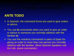 11.1 Familiar commands