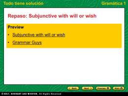 Subjunctive with will or wish