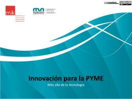 Innovación - MBA & Educación Ejecutiva