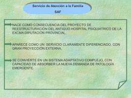Servicio de Atención a la Familia (SAF)