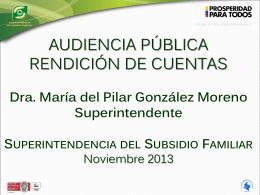 Presentación de PowerPoint - Superintendencia del Subsidio Familiar