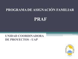PROGRAMA DE ASIGNACIÓN FAMILIAR