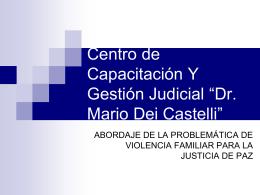 capacitacion 2013 - Centro de Capacitación y Gestión Judicial