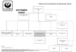 dictamen 9/2007 - Secretaría de Desarrollo Social