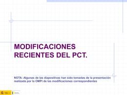 Modificaciones hasta el 2006 - Oficina Española de Patentes y Marcas