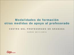 centros del profesorado - Aula virtual de los CEP de Granada