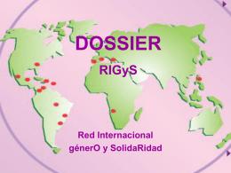 Dossier - Red Internacional de Género y Solidaridad