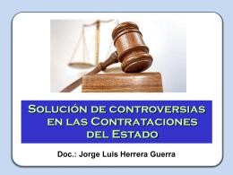 Solucion de Controversias en las Contrataciones del Estado
