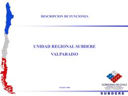 Presentacion Descripcion funciones Unidad Regional Subdere