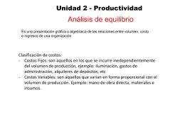 Unidad 2 - Productividad