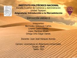 Mercado Meta. - instituto politecnico nacional..