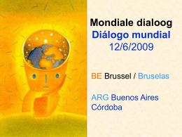 Mondiale dialoog Diálogo mundial