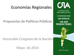 Economías Regionales - Honorable Senado de la Nación