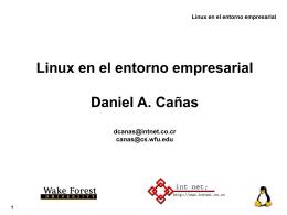 Linux en el entorno empresarial - Club de Investigación Tecnologica