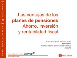 3. Las inversiones de los fondos de pensiones: Condiciones