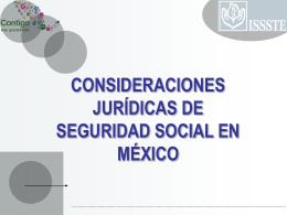 CONSIDERACIONES JURÍDICAS DE SEGURIDAD