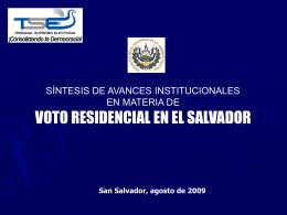 Diapositiva 1 - Tribunal Supremo Electoral