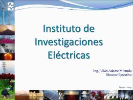 Difusión realizada por el Ing. Julián Adame