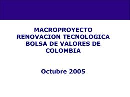 Presentacion al Mercado - Bolsa de Valores de Colombia