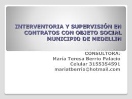 INTERVENTORIA Y SUPERVISIÓN EN CONTRATOS CON OBJETO