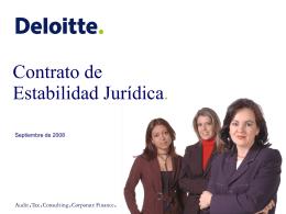 Deloitte - Presentacion Contrato Estabilidad Jurídica