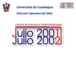 Informe SIIAU - Universidad de Guadalajara