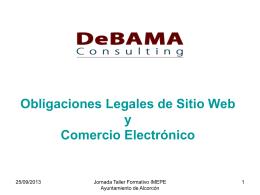 Obligaciones Legales de Sitio WEB y Comercio Electrónico